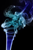 Brilliant blue smoke Stock Photo
