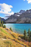 Brilliant Bow Lake Royalty Free Stock Photos