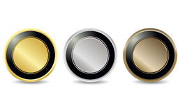 Brilliant button tag set Royalty Free Stock Image