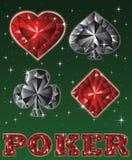 Brilliant card symbols poker. vector Stock Images