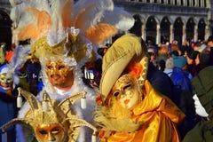 Brilliant carnival costumes,Venice Stock Photos