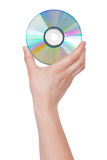 Brilliant CD in hand Stock Photos