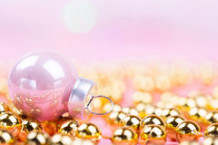 Brilliant christmas bauble and ornaments Royalty Free Stock Photos