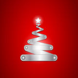 Brilliant christmas tree. Abstract background stock illustration