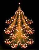 Brilliant Christmas tree with a star. EPS10 vector. Illustration Stock Image