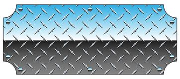 Brilliant Chrome Diamond Plate Metal Sign Background Vector Illustration. Sharp looking diamond-plate background vector illustration, detailed non-skid pattern royalty free illustration