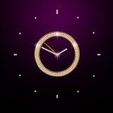 Brilliant clock on dark. Background with brilliant clock on dark Stock Images