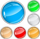 Brilliant color buttons Royalty Free Stock Photo