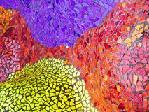 Brilliant colored mosaic tiles royalty free stock photo