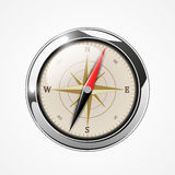 Brilliant Compass with windrose Stock Image