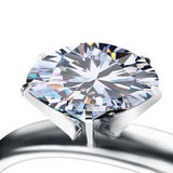 Brilliant cut diamond Royalty Free Stock Photo