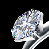 Brilliant cut diamond Royalty Free Stock Images