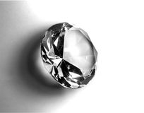 Brilliant Cut Diamond. On White Stock Photos
