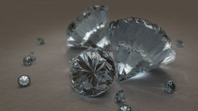 Brilliant Cut Diamonds. Assorted brilliant cut reflective diamonds royalty free illustration