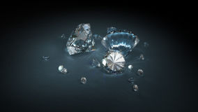 Brilliant Cut Diamonds. 3D render Stock Photo