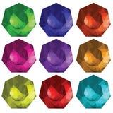 Brilliant cut gems Stock Images