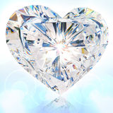 Brilliant cut heart. 3d render Royalty Free Stock Photography