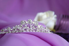 Brilliant diadem for a bride Royalty Free Stock Image