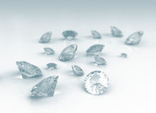 Brilliant diamond Stock Photo
