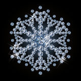 Brilliant diamond snowflake Royalty Free Stock Images