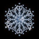 Brilliant diamond snowflake Royalty Free Stock Images
