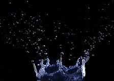 brilliant drops transparent water on black stock images