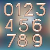 Brilliant figures digit drawing metal number Royalty Free Stock Photos