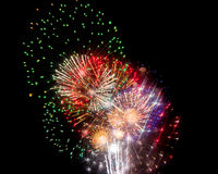 Brilliant Fireworks. Fireworks show finale with a fantastic burst of brilliant colors Royalty Free Stock Images
