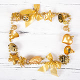 Brilliant gold baubles  like christmas decoration Stock Images