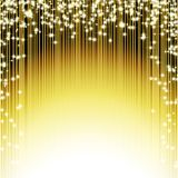 Brilliant Golden Shiny background. Brilliant Golden Background with shooting stars.  illustration Stock Photo