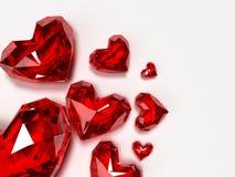 Brilliant hearts Royalty Free Stock Image