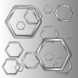 Brilliant hexagons Stock Image
