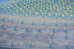 Brilliant hope: the Seventh National City Games opening ceremony rehearsal Stock Photography