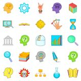 Brilliant idea icons set, cartoon style. Brilliant idea icons set. Cartoon set of 25 brilliant idea vector icons for web isolated on white background Royalty Free Stock Photo