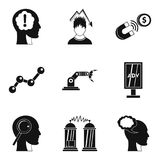 Brilliant idea icons set, simple style. Brilliant idea icons set. Simple set of 9 brilliant idea vector icons for web isolated on white background Stock Photos