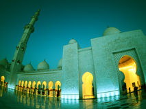 Brilliant lighting in mosque Royalty Free Stock Photo