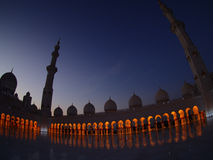 Brilliant lighting in mosque Stock Image