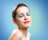 Brilliant makeup colors. Stock Photography