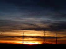 Brilliant multi-layered sunrise in the Rocky Mountains Royalty Free Stock Photography