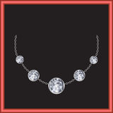 Brilliant necklace vector Royalty Free Stock Images