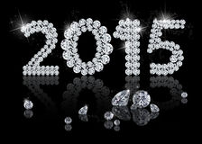 Brilliant New Year 2015 Stock Photo