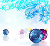 Brilliant New Year's  background Royalty Free Stock Photos