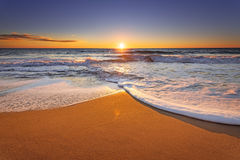 Brilliant ocean beach. Brilliant ocean beach sunrise above the sea Royalty Free Stock Photography