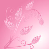 Brilliant pink flover. Vector illustration Stock Photo