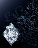 Brilliant poker diamonds card Royalty Free Stock Photography