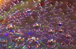 Brilliant Purple Rainbow Drops Background Texture Royalty Free Stock Image