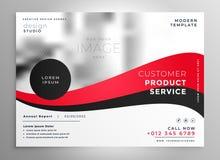 Brilliant red business brochure presentation template background. Illustration Stock Photos