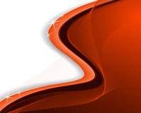 Brilliant red wavy background Stock Image
