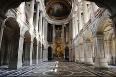 Brilliant royal palace. Of France, interior of palace Royalty Free Stock Images