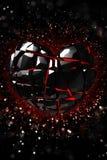 Brilliant ruby on black background. Black Crystal. Stock Photo